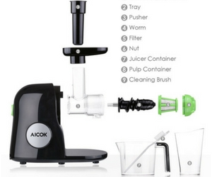Aicok Slow Masticating Juice Extractor Review - Parts