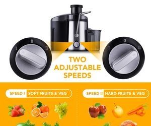 2 adjustable speed settings - Joerid Juicer 2019 Upgrade