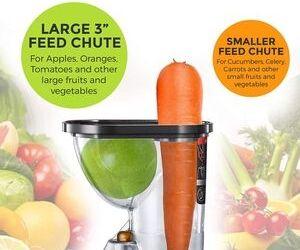 Large feed chute size